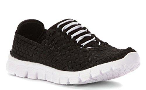 Women's Alexis Danielle Black Sneaker Zee White Ca506fPP