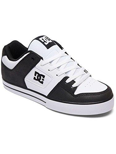 DC Pure Mens Skate Shoes Trainers Black/White/Black