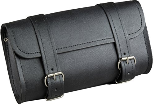 Fuel Helmets SH-BARBAG Handlebar Bag with Leather Shell, Black