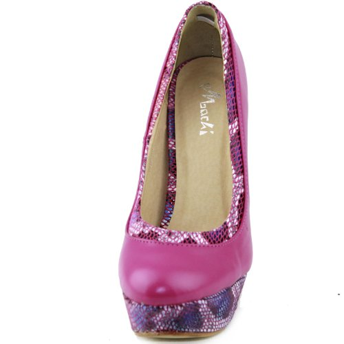 Womens Machi Vinda-21 Platform Snake Skin Fashion Shoes Pink stFF0mO9