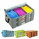 totam Bamboo Charcoal Practical Foldable Clothing Storage Bag Box Clothes Closet Organizer