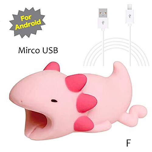 (Oksale Cable Line Bite for Mirco USB Cable Cord Animal Phone Accessory Protects Cute - with 1M Cable (F))
