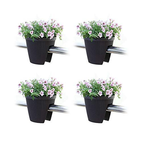 (T4U Deck Balcony Railing Planter Flower Box 11.5
