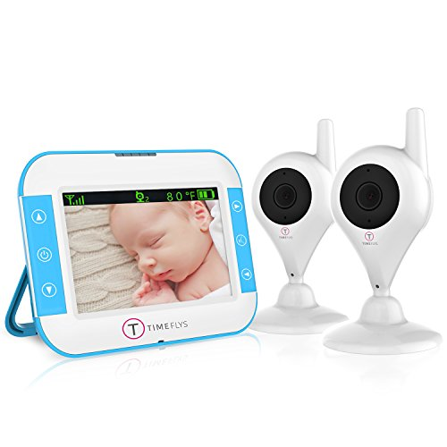 Video Baby Monitor with 2 Cameras, Long Range Night Vision 2 Way Video Baby Monitor with Camera and Audio (5 inch)