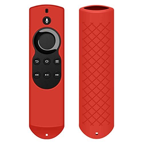 Fordesign Silicone [Anti Slip] Shockproof Case for All-New Fire TV with 4K Alexa Voice Remote (2017 Edition) (2nd Gen) / Fire TV Stick Alexa Voice Remote-Red