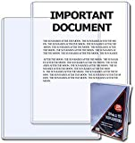 BCW 8.5 x 11 - Document Topload Holder (25 Holders/Pack) - Photo, Picture, Photograph Display - Baseball, Football, Basketball, Hockey, Golf, Single Sports Cards Top Load - Sportcards Card Collecting Supplies