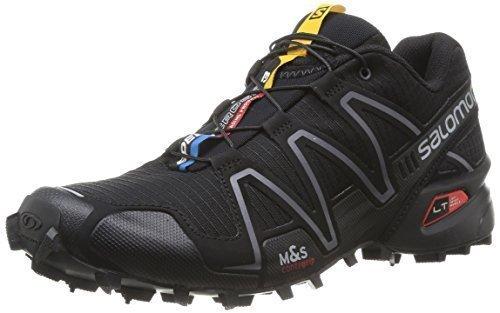 Salomon Women's Speedcross 3 Trail Running Shoes Black/Black/Silver 10.5