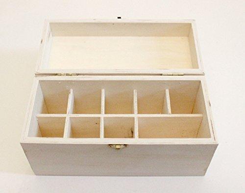 Wood Box Storing Safely Gold Test Kit Holds 9 Slots Testing Acid Bottles Stones (Kit Scale Testing Gold)
