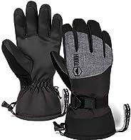 Ski & Snow Gloves - Waterproof & Windproof Winter Snowboard Gloves for Men & Women for Cold Weathe