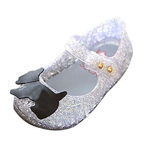 Zhuhaixmy Baby Mädchen Jungen Mode Atmungsaktiv Niedlich Weich Gelee Lässige Schuhe Kinder Säugling Sandals Regen Stiefel Silber