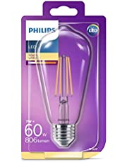 Philips LED Classic 60W ST64 E27 Non-Dim 2700K LED Filament Ampul
