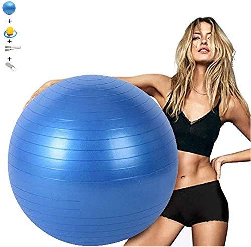 Ejercicio bola de la gimnasia 100cm Azul Yoga Pilates bola espesado no Slip Explosion suizo pelota de parto bola for silla de oficina en casa Gimnasio Shaping Therap Fisica Ayuda Parto Ball Balance Tr
