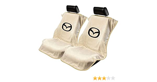 Seat Armour 2 Piece Front Car Seat Covers For Honda Tan Terry Cloth