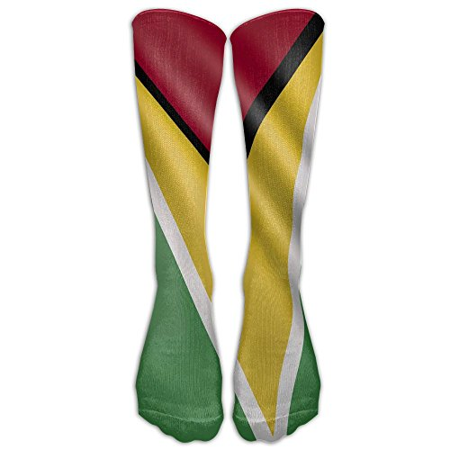 - Leisue Guyana Flag Cute Over-the-calf Tube Stockings Knee Socks For Yoga Train Hiking Cycling Running Sports Soccer