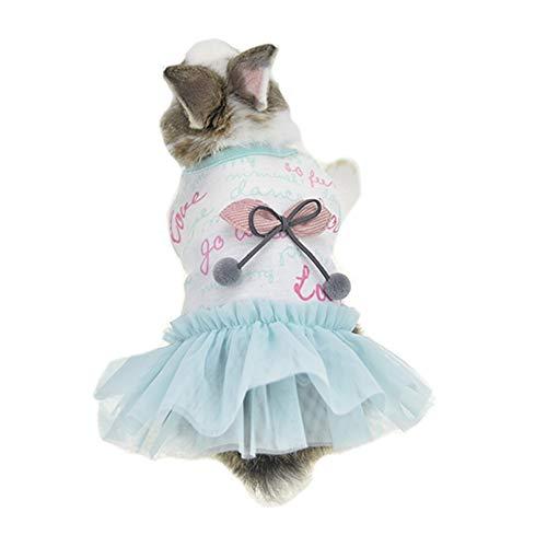 FLAdorepet Cute Bunny Rabbit Dress Clothes for Mini