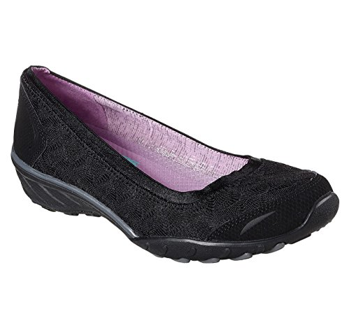 Play The Black Flats Toe Closed Game Women Savvy Ballet Skechers EqPWzaTE