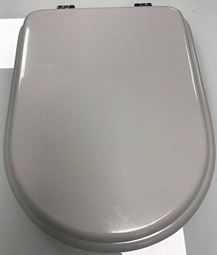 ⭐ Sedile WC Compatibile - DOLOMITE CLODIA - LEGNO COLATO Copriwater Adattabile Bianco ⭐ Brudetti