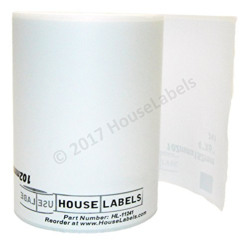 Generic Shipping Labels Compatible w/ Brother DK-1241 (4 x 6; 151mm*102mm) BPA Free (6 Rolls; 200 Labels per Roll)