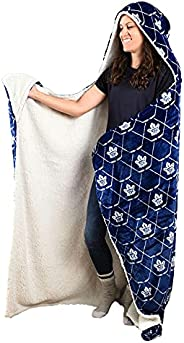 NHL Toronto Maple Leafs Super Soft and Warm Sherpa Hooded Wearable Throw Blanket (50x70)