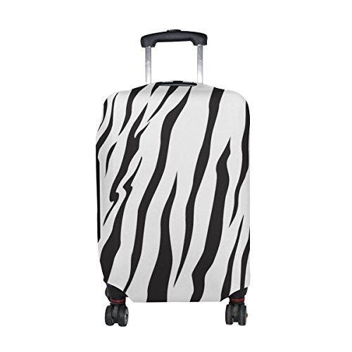 White Stripes Protector Case - U LIFE Animal Zebra Stripe Black And White Luggage Suitcase Cover Protector