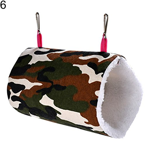 (shengyuze Cartoon Owl Leopard Camouflage Hammock Swing Hanging Bed Nest House for Syrian Hamster Gerbil Rat Mouse Chinchillas Guinea Pig Squirrel Small Animal Cage)