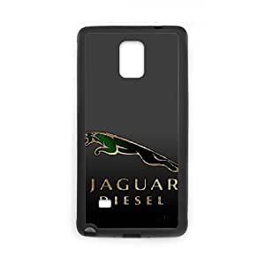 Generic hard plastic Jaguar Logo Cell Phone Case for Samsung Galaxy Note 4 Black ABC83