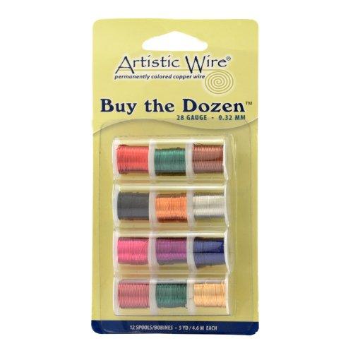Artistic Wire 28-Gauge Buy-The-Dozen, Various Colors, 12-Pack