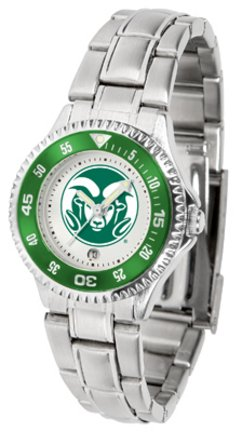 Colorado State Rams Competitor Ladies Watch with Steel Band by SunTime