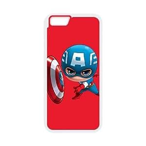 iPhone 6 Plus 5.5 Inch Cell Phone Case White Baby Captain America Hmkfi