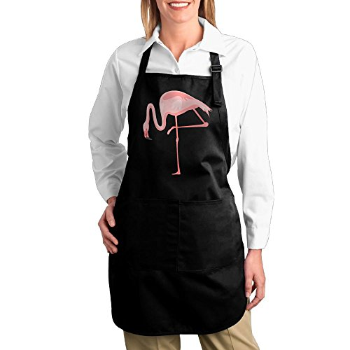 Costume Contest Meme (Dogquxio Flamingos Kitchen Helper Professional Bib Apron With 2 Pockets For Women Men Adults Black)