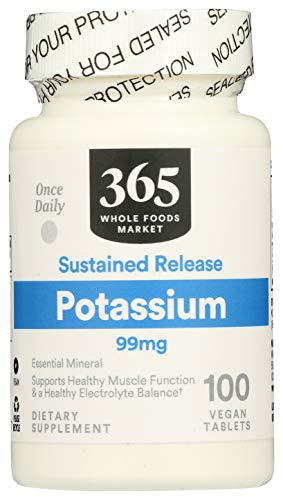 365 by Whole Foods Market, Potassium 99Mg, 100 Tablets