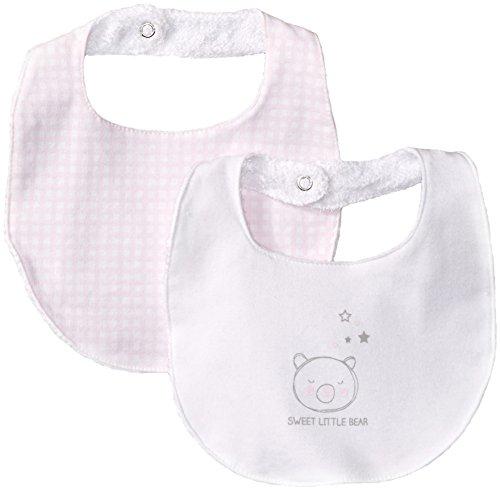 ib Set, Pink/White, One Size (Absorba Cotton Bib)