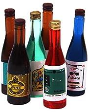 Guangcailun 6st 1:12 Dollhouse ratur Trädgårds Resin vinflaska drink inredning Set landskaps Decors