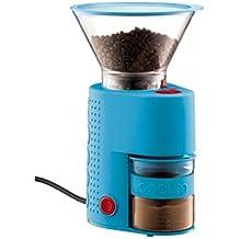 Bodum BISTRO Burr Grinder, Electronic Coffee Grinder with Continuously Adjustable Grind, Blue