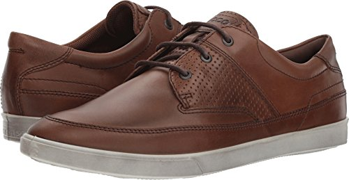 ECCO Men's Collin Nautical Sneaker, Cocoa Brown, 42 M EU (8-8.5 US)