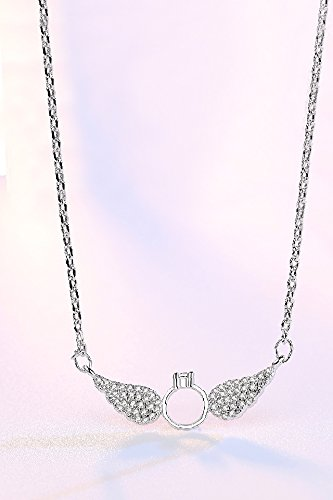 Amazon generic meng meng korean simple diamond pendant generic meng meng korean simple diamond pendant necklace women girl fashion angel wings fashion cross clavicle aloadofball Gallery