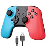 BISOZER Wireless Pro Gaming Controller for Nintendo Switch Gamepad with Gyro Sensor Dual Shock Vibration, Joypad Remote for Switch Console Zelda/Splatoon 2/Star Allies/Mario Odyssey etc
