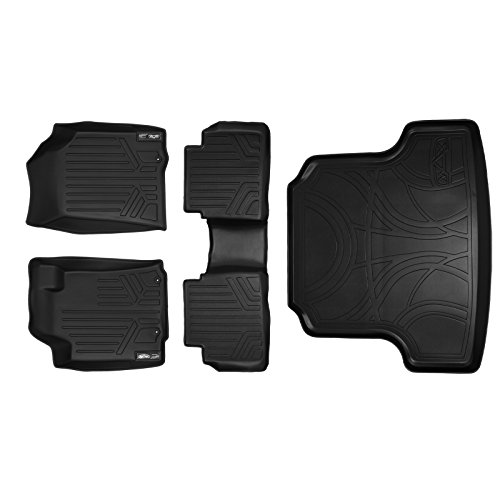 MAXFLOORMAT Floor Mats and MAXTRAY Cargo Liner for Altima (2013-2017) Complete Set Black (Manufactured After Nov. 2012)
