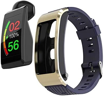 Smart Watch Teléfono Watch 1.08 Pulgadas Pantalla de Color TFT, Correa de Silicona, IP67 Impermeable, Recordatorio de Llamadas de Soporte (Color : Blue)