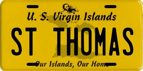 (St. Thomas U.S. Virgin Islands Aluminum License Plate)