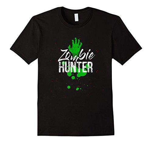 Mens Halloween Zombie Hunter T Shirt costume Small Black