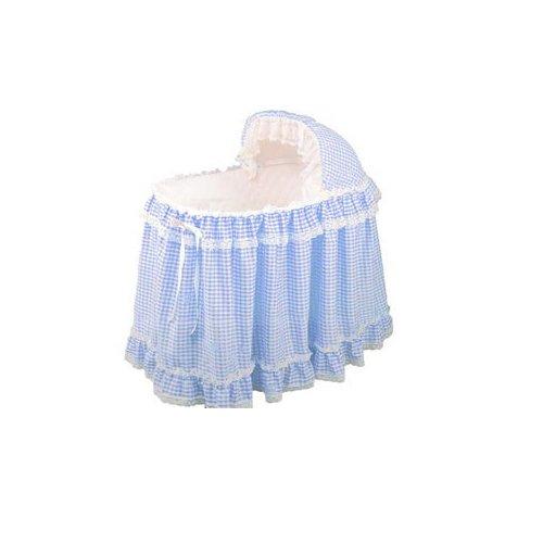 - Babydoll Gingham Liner/Skirt and Hood, Light Blue, 16