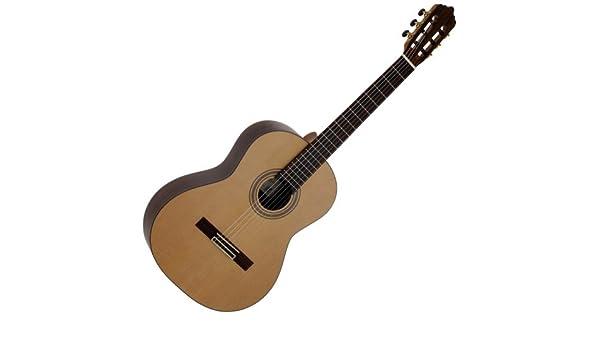 La Mancha 211.269 7/8 clásica guitarra clásica, tapa de cedro ...