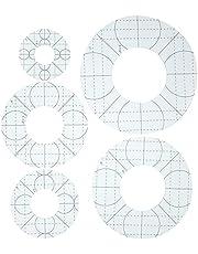 EXCEART 5 stks Acryl Quilten Sjablonen Naaien Cirkel Templates Acryl Quilten Liniaal Ronde Quilten Sjablonen Quilten Gereedschap voor DIY Naaien