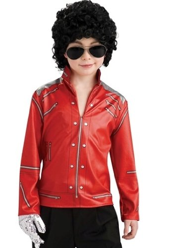 Boys Red Michael Jackson Zipper Costume Jacket