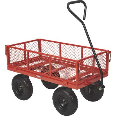 - Ironton Steel Utility Cart - 400-Lb. Capacity, 34in.L x 18in.W