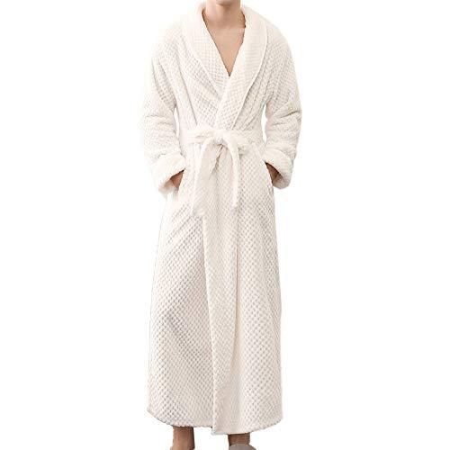 a5577567457 Mikkar Men s Winter Lengthened Bathrobe Home Clothes Shawl Long Sleeved Robe  Coat