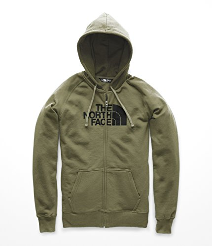(The North Face Women's Half Dome Full Zip Hoodie - Four Leaf Clover & TNF Black - M)