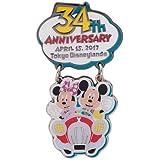 東京ディズニーランド34周年 記念グッズ ピンバッジ【東京ディズニーリゾート限定】