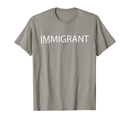 Mens IMMIGRANT I Am T-Shirt Large Slate